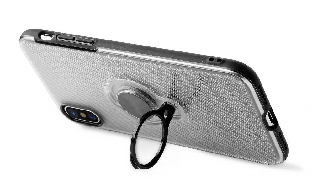 custodia snap-on in pelle di decoded per iphone x