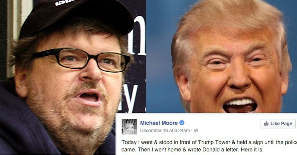 Over 330,000 People Have Shared Michael Moore's Facebook Letter to Donald Trump