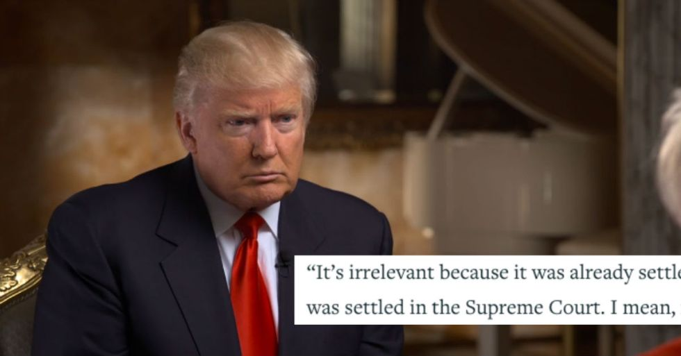 In First Interview Since Election, Trump Promises He Won't Overturn Marriage Equality