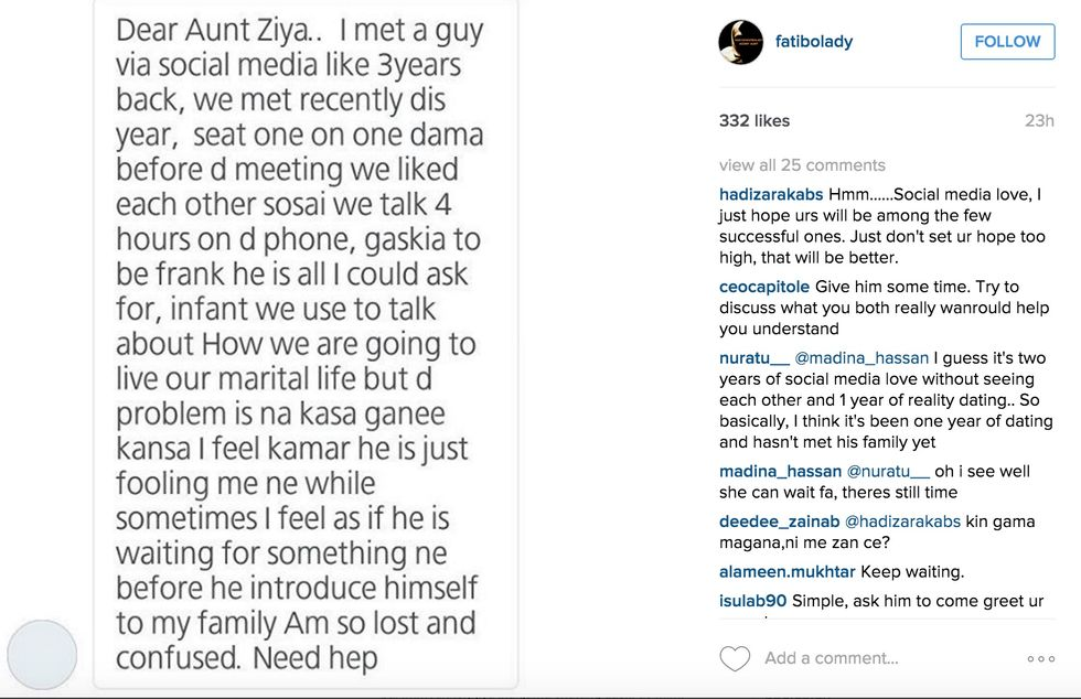 Nigerian Agony Aunt Uses Instagram to Dole Out Advice