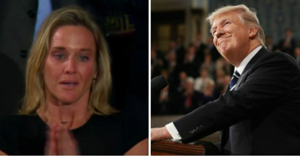 Trump Earns Praise And Scorn For Comments To Wife Of Fallen Soldier During Speech