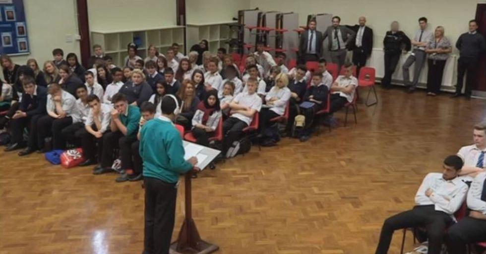 Student Gives an Inspiring Speech After Overcoming a Severe Stuttering Problem
