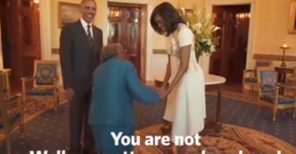 106-Year-Old African-American Woman Meets the President in the White House