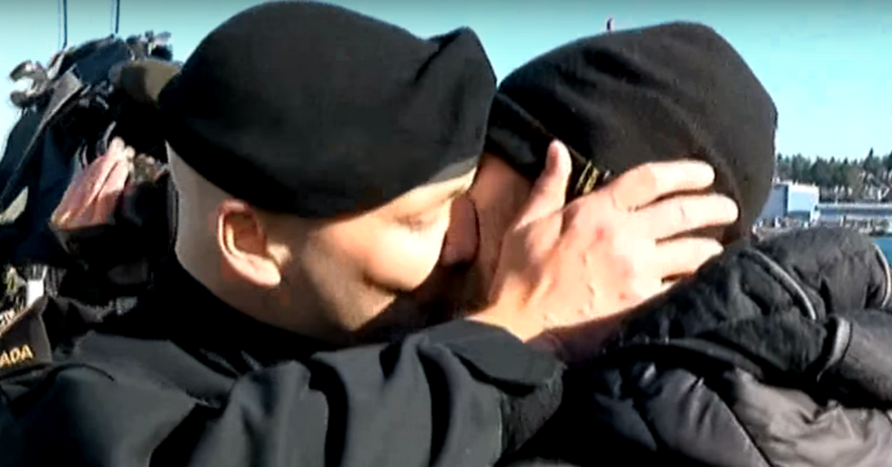 Canadian Sailor Just Had a Historic Kiss With His Boyfriend