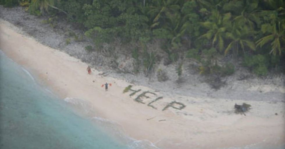 U.S. Navy Rescues Stranded Sailors from a Deserted Island