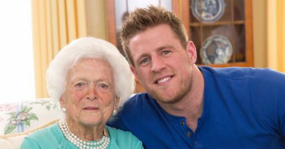 Houston Texans Star J.J. Watt Offered Some Very Kind Words About His Time With Barbara Bush