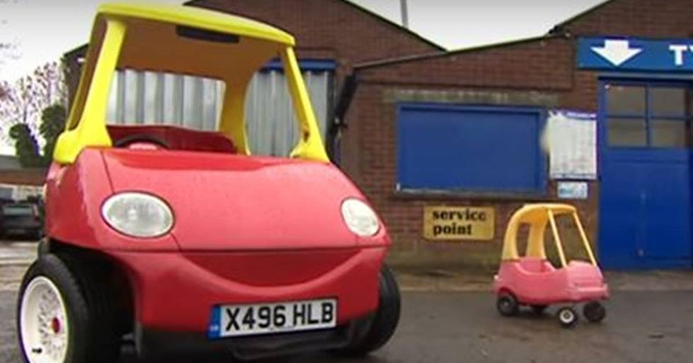 U.K. Brothers Create An Adult-Size Version Of The Little Tykes Cozy Coupe