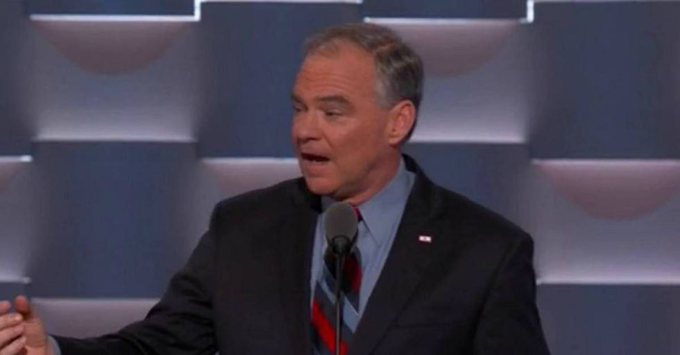 Twitter Reacts To Tim Kaine's DNC Speech With Hilarious Dad Jokes