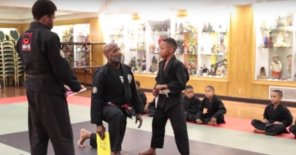 Martial Arts Instructor Helps A Young Student Overcome Emotional Barriers