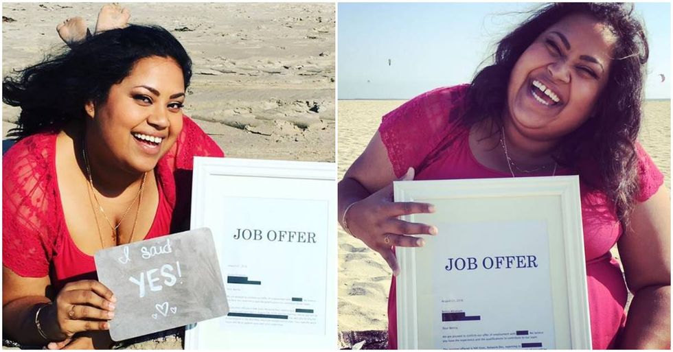 Woman Announces Her New Job With An Engagement-Style Photo Shoot
