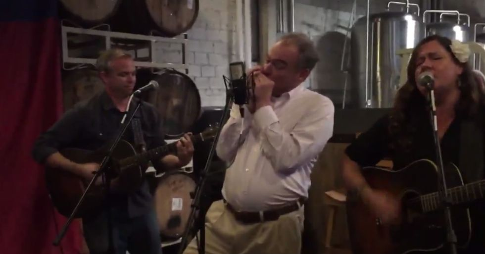 Tim Kaine, America's Dad, Plays The Harmonica Like A Boss
