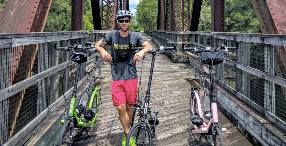 This Man Took His Elliptical Bike On An Epic Journey Far Beyond The Gym