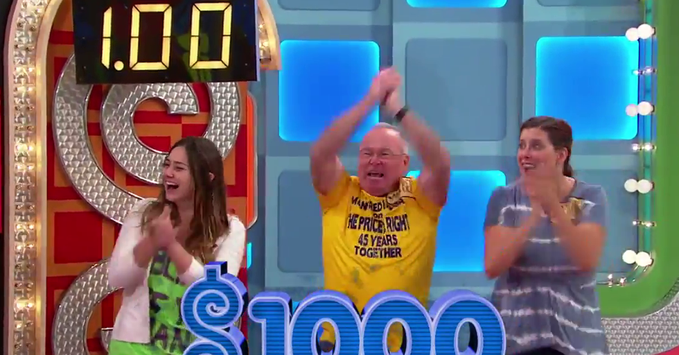 Watch The Crowd Go Wild When All Three 'Price Is Right' Contesants Land $1.00 In A Showcase Showdown