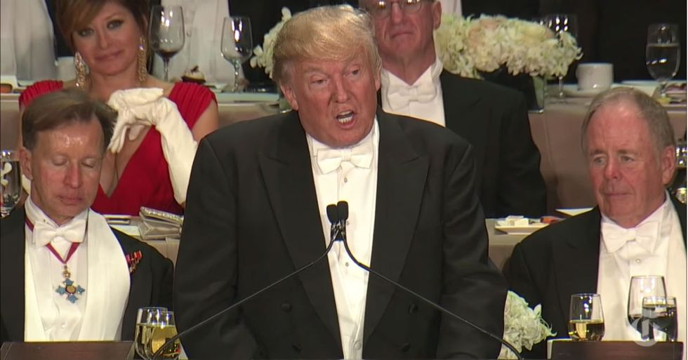The 5 Most Uncomfortably Awkward Trump Moments During Last Night's Charity Event