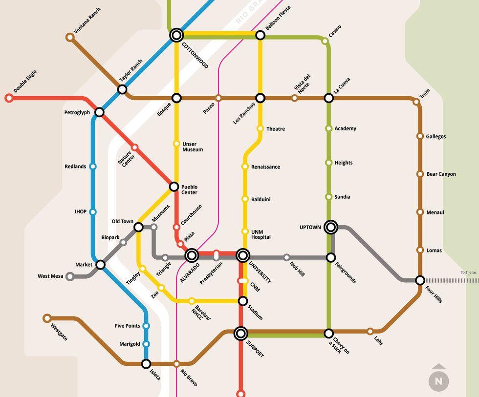 Austin Texas Subway Map.How Albuquerque S Fake Subway Map Starts New Public Transit