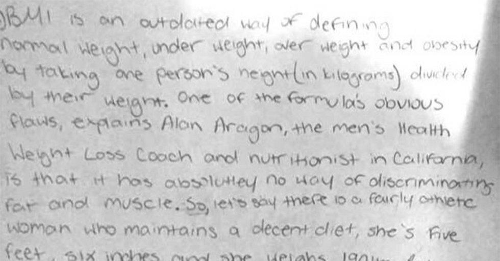 8th Grader, Reduced To Tears When Told She Was 'Obese', Schools Her Teacher On The Concept Of BMI
