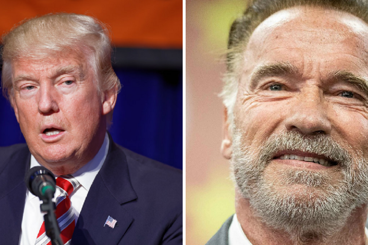 Trump just bizarrely claimed Arnold Schwarzenegger had 'died.' An unfazed Arnold flexed back.