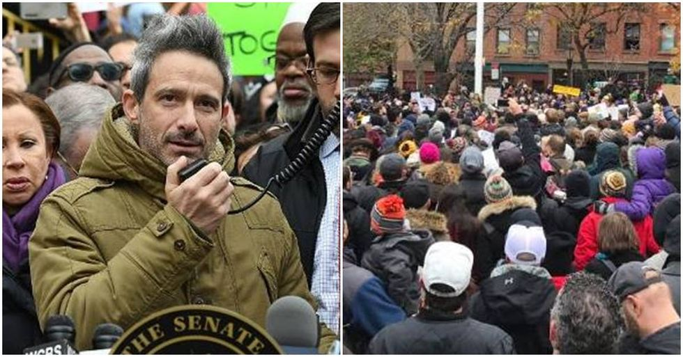 Anti-Hate Rally Held At Adam Yauch Park After It Was Defaced By Pro-Trump Anti-Semites