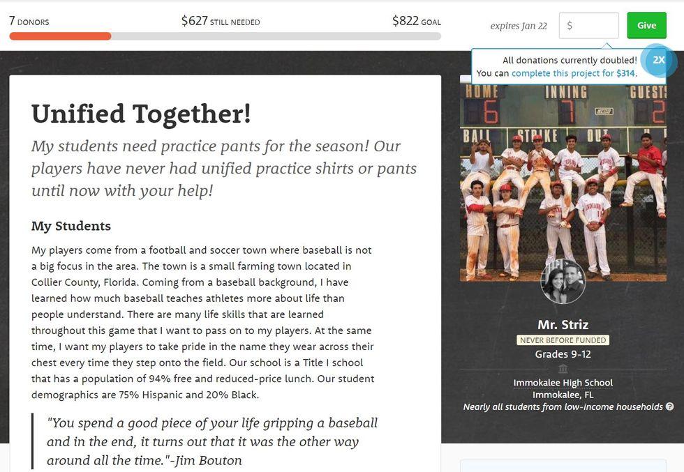 Worthy Cause Countdown: Help This South Florida Baseball Team BuyUniforms