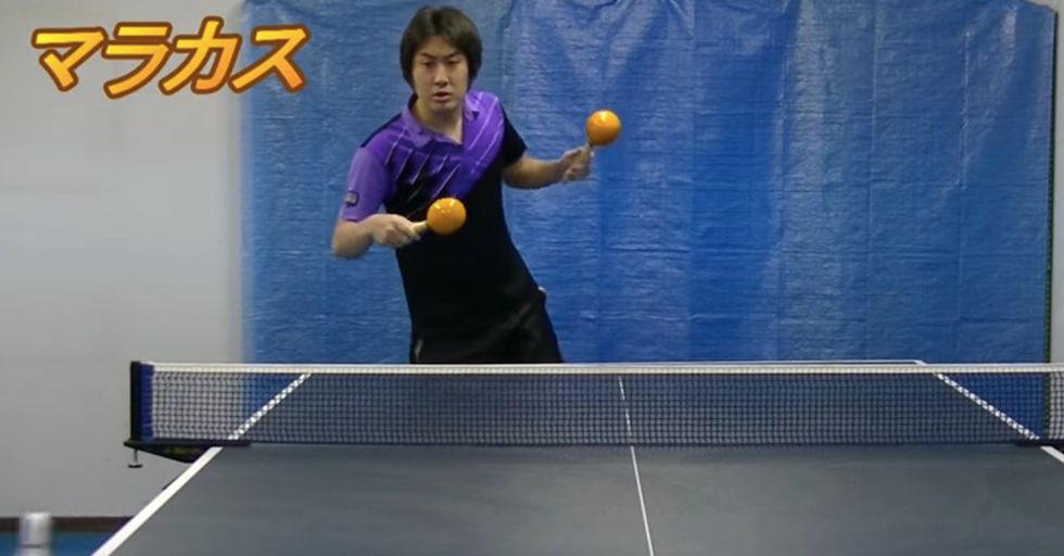 This Table Tennis Virtuoso Can Win Using Any Item As A Paddle