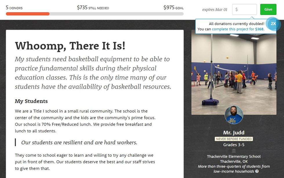Worthy Cause Countdown: This Rural Elementary School Needs $735 For Basketball Hoops