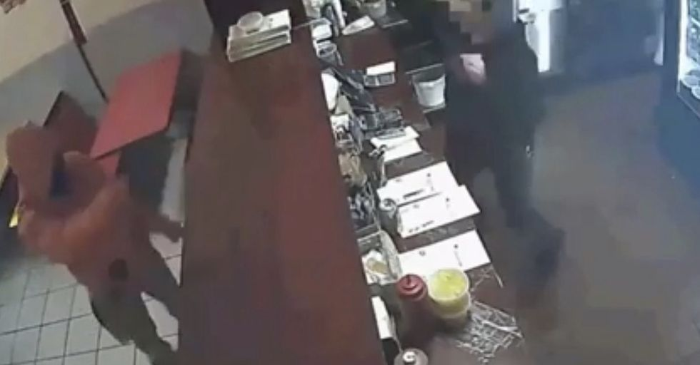 Random Act Of Sport: Restaurant Employees Turn Utensils Into Weapons In Foiling Robber