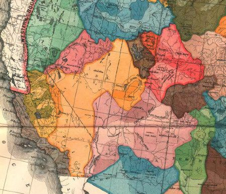 John Wesley Powell's Watershed States Map Map: What If Our Western