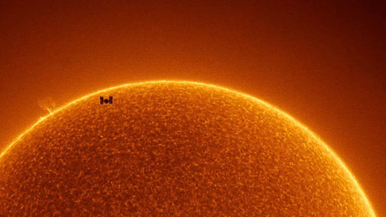 NASA releases stunning image of ISS crossing in front of the sun