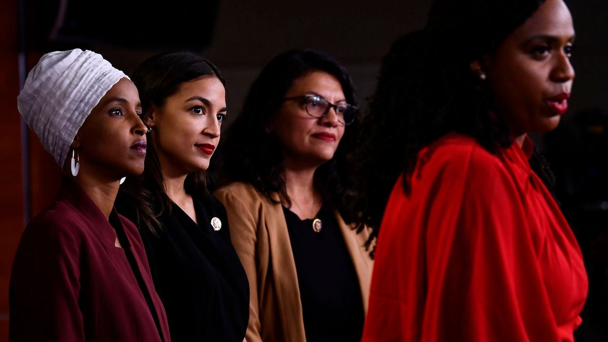Ocasio-Cortez 'squad' holds media conference to denounce President Trump's tweets