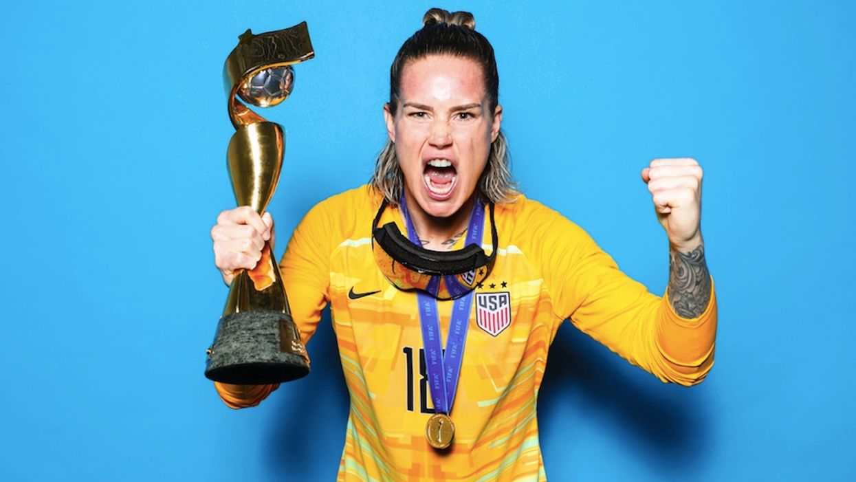Openly gay US soccer star — who unleashed numerous f-bombs during team's World Cup parade — calls Christian player 'homophobic'