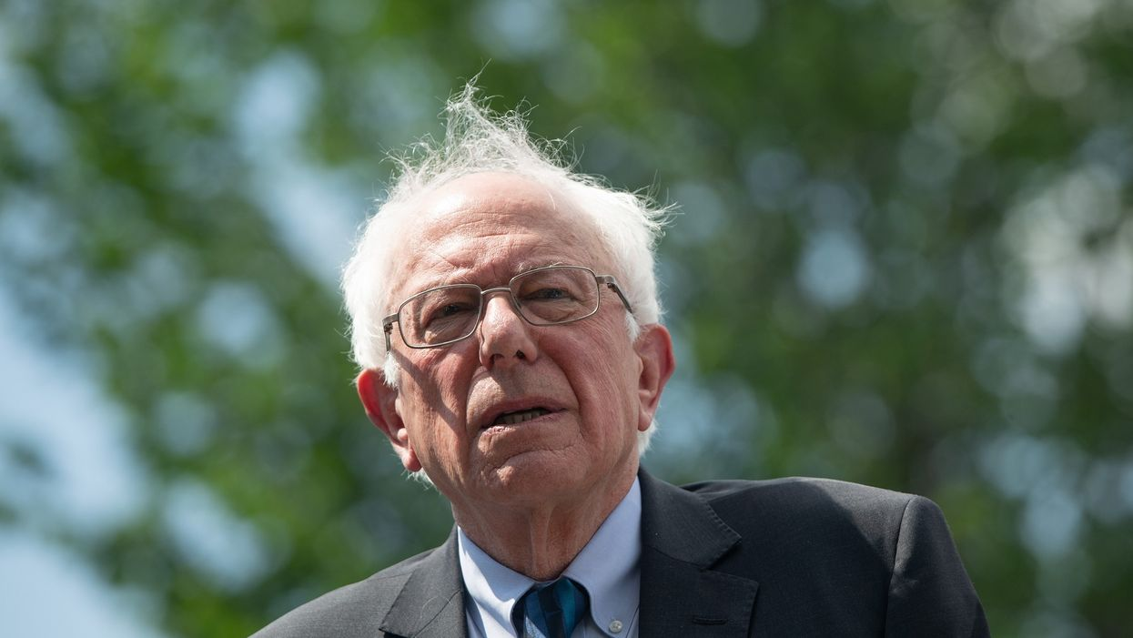 Watch: Bernie Sanders dismayed to find out a big bank sponsored an event featuring him