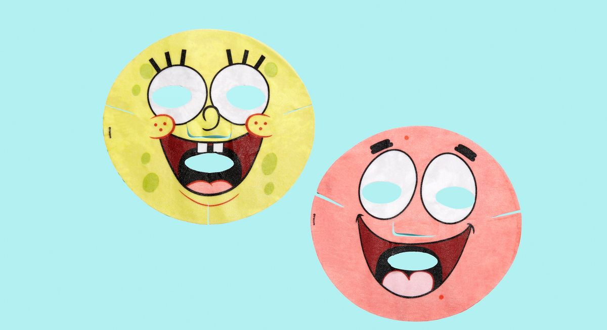 SpongeBob's New Face Masks Are Low-key Terrifying
