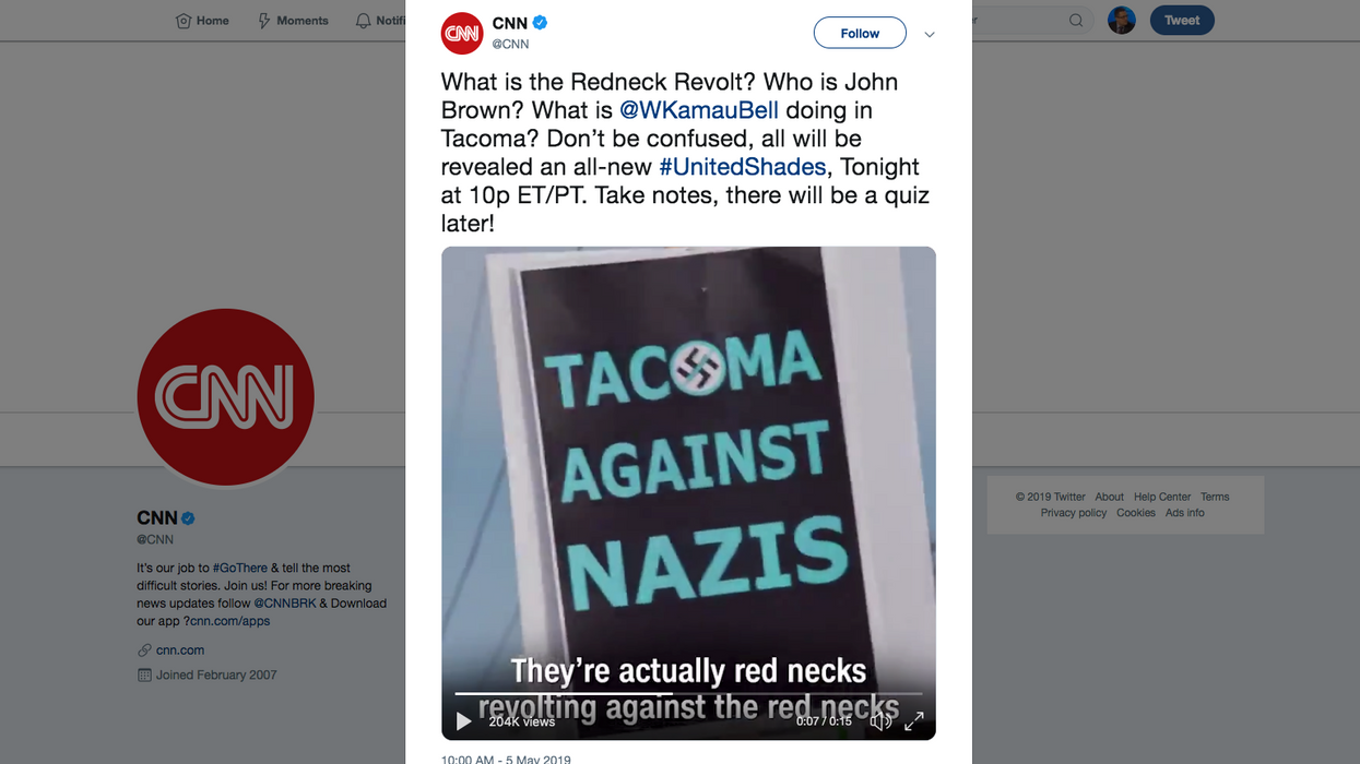 WTF MSM!? CNN glorified leftist militia that Antifa ICE attacker belonged to