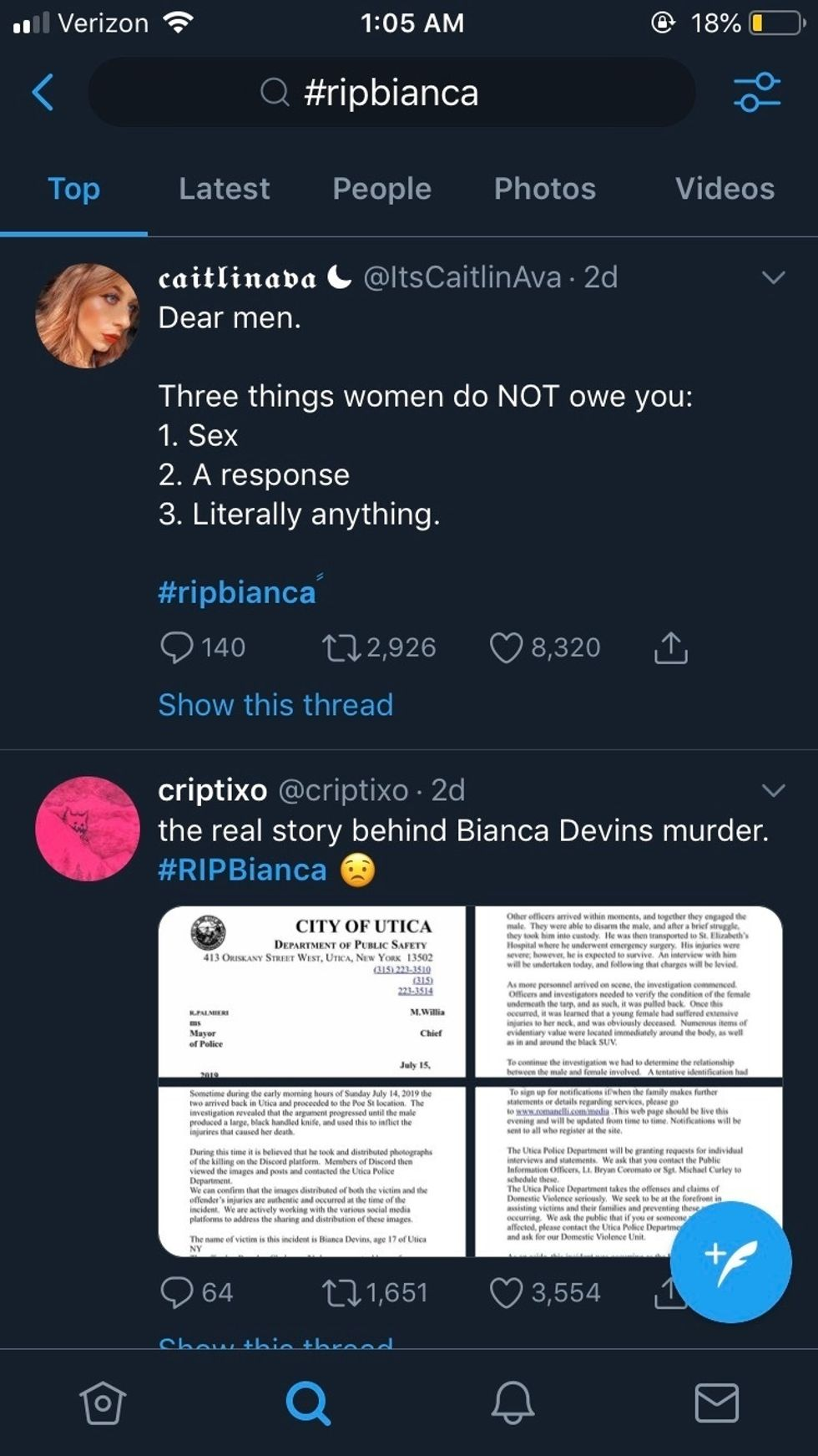 #RIPBianca: The Cost Of Rejection For A Woman