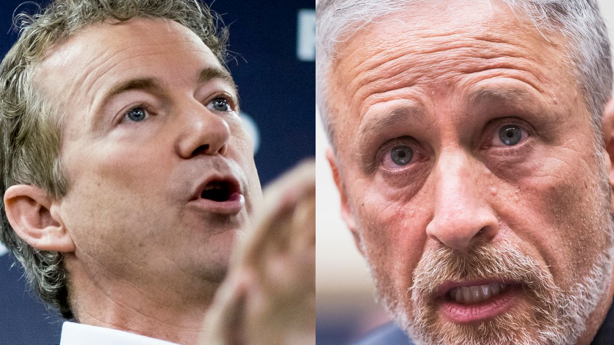 Rand Paul fires back at 'guttersnipe' Jon Stewart and lies from 'left-wing mob' about 9/11 survivor fund
