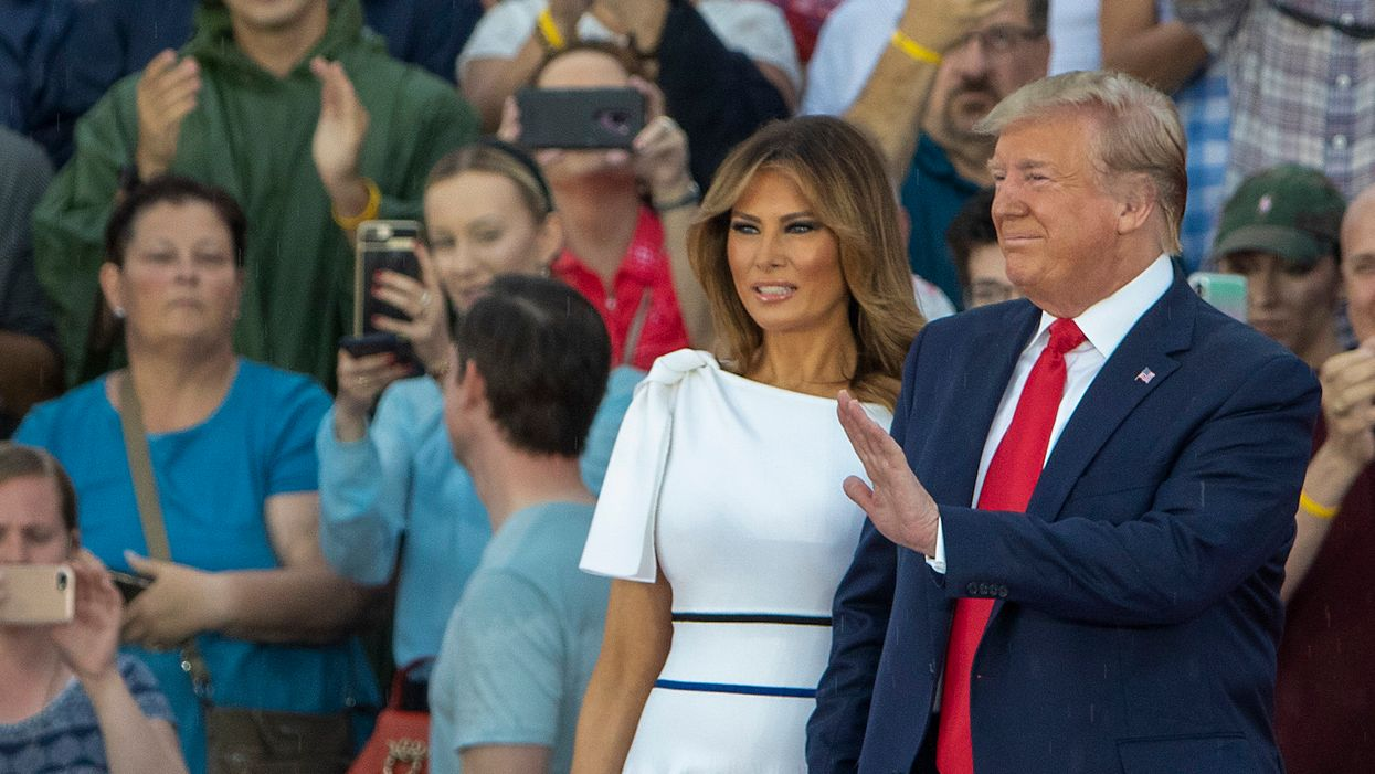 Trump advised to 'moderate his position' by First Lady, VP, and others after 'send her back' chant: report
