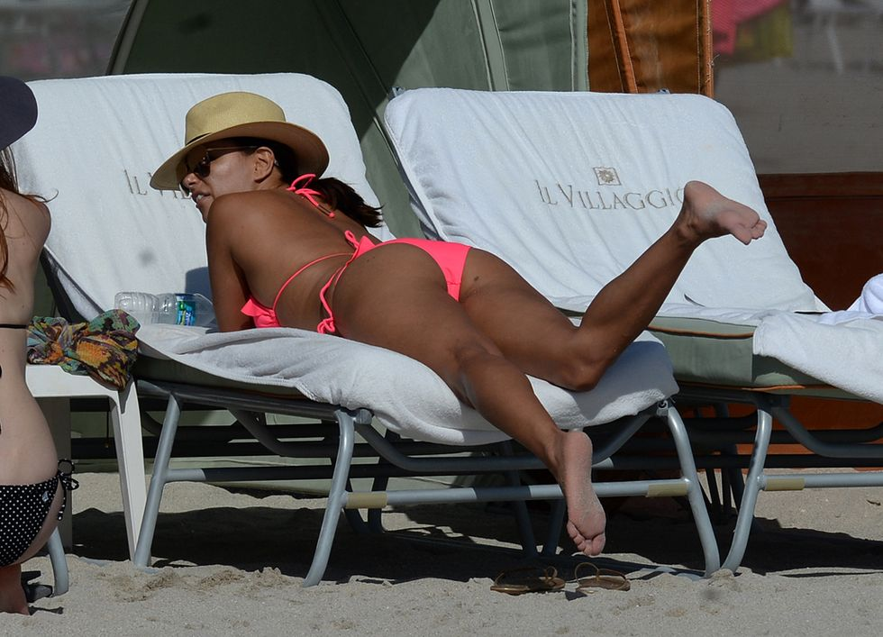Eva Longoria in bikini a Miami Beach