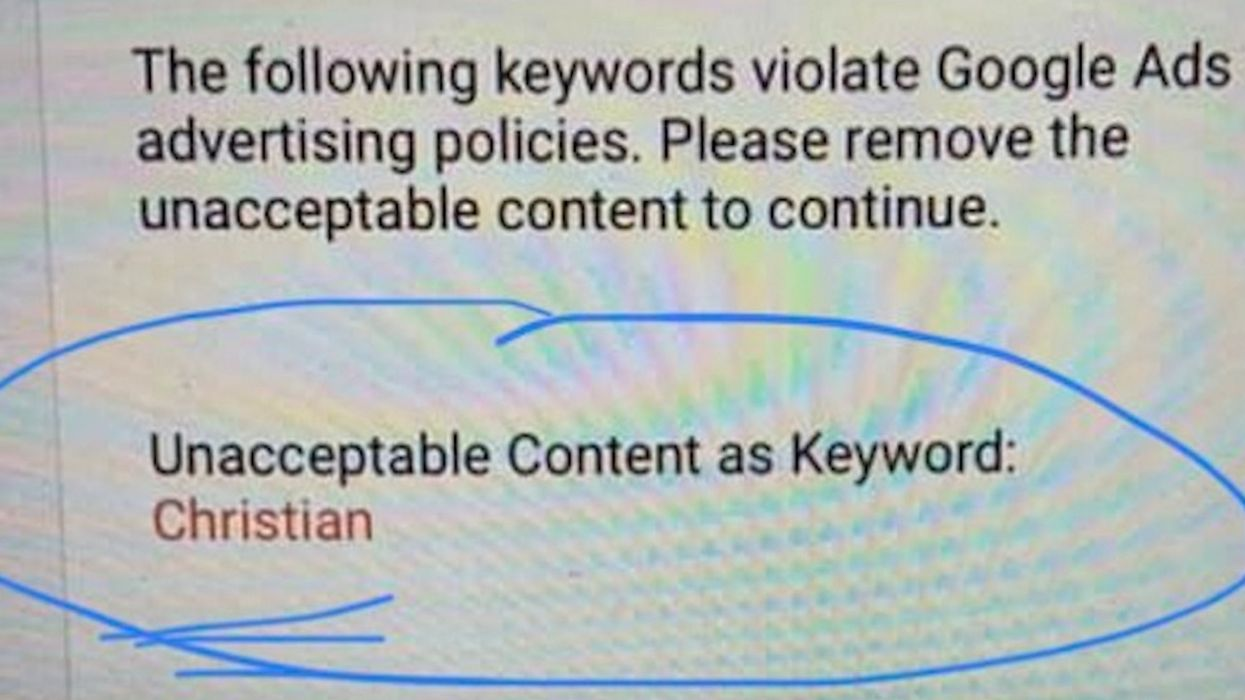 YouTube ad denied over 'Christian' keyword — but 'Muslim' keyword raised no red flags, veterans charity founder says