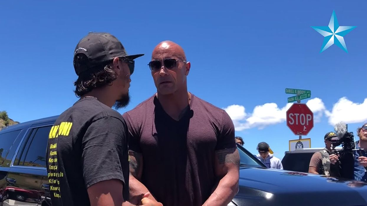 'It's About Respecting a Culture': Dwayne 'The Rock' Johnson Visits Mauna Kea Protests to Lend Support