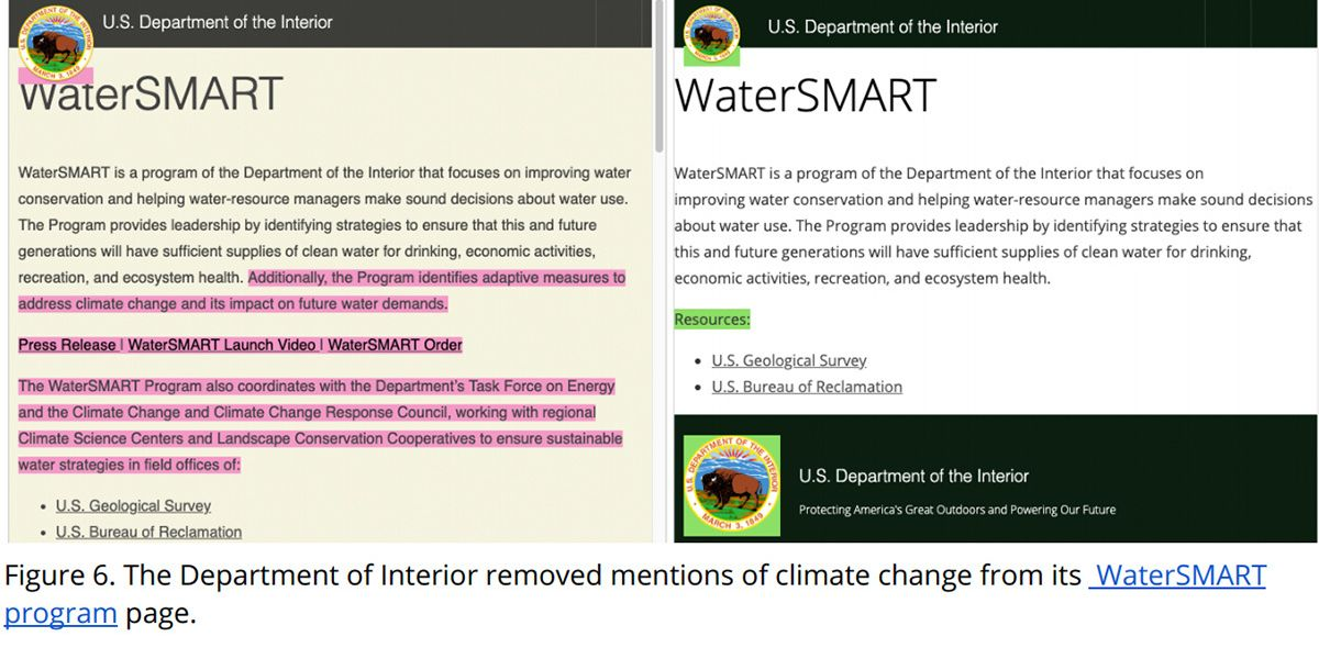 Climate Change References Are Disappearing From U.S. Government Sites