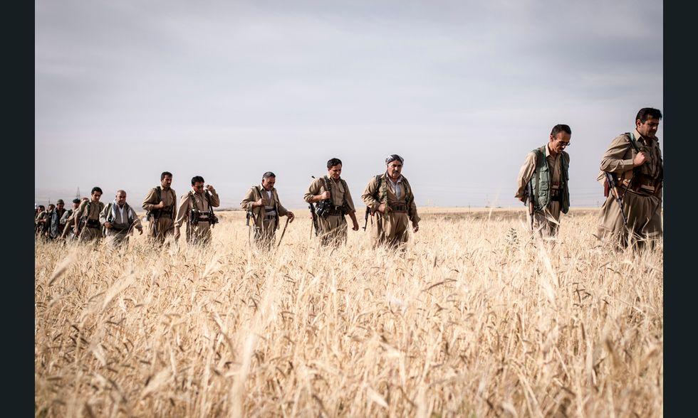 Iraq, Peshmerga curdi, addestramento