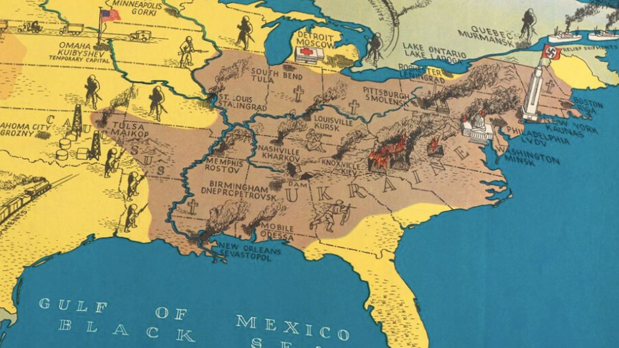 This WWII map taught Americans to sympathize with the Soviets