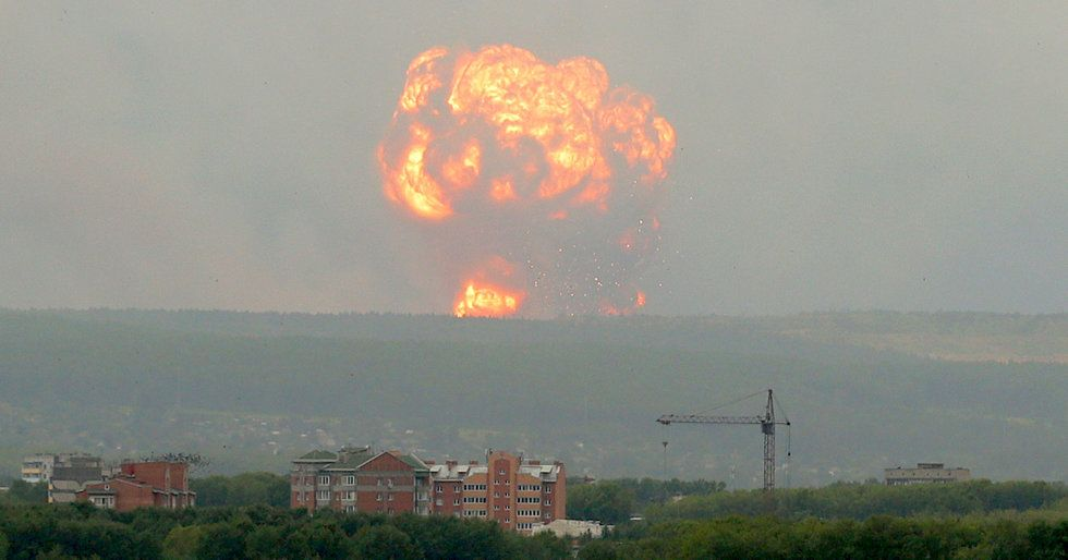 Video: Russia Arms Depot Explosion Creates Massive Shockwave - Task