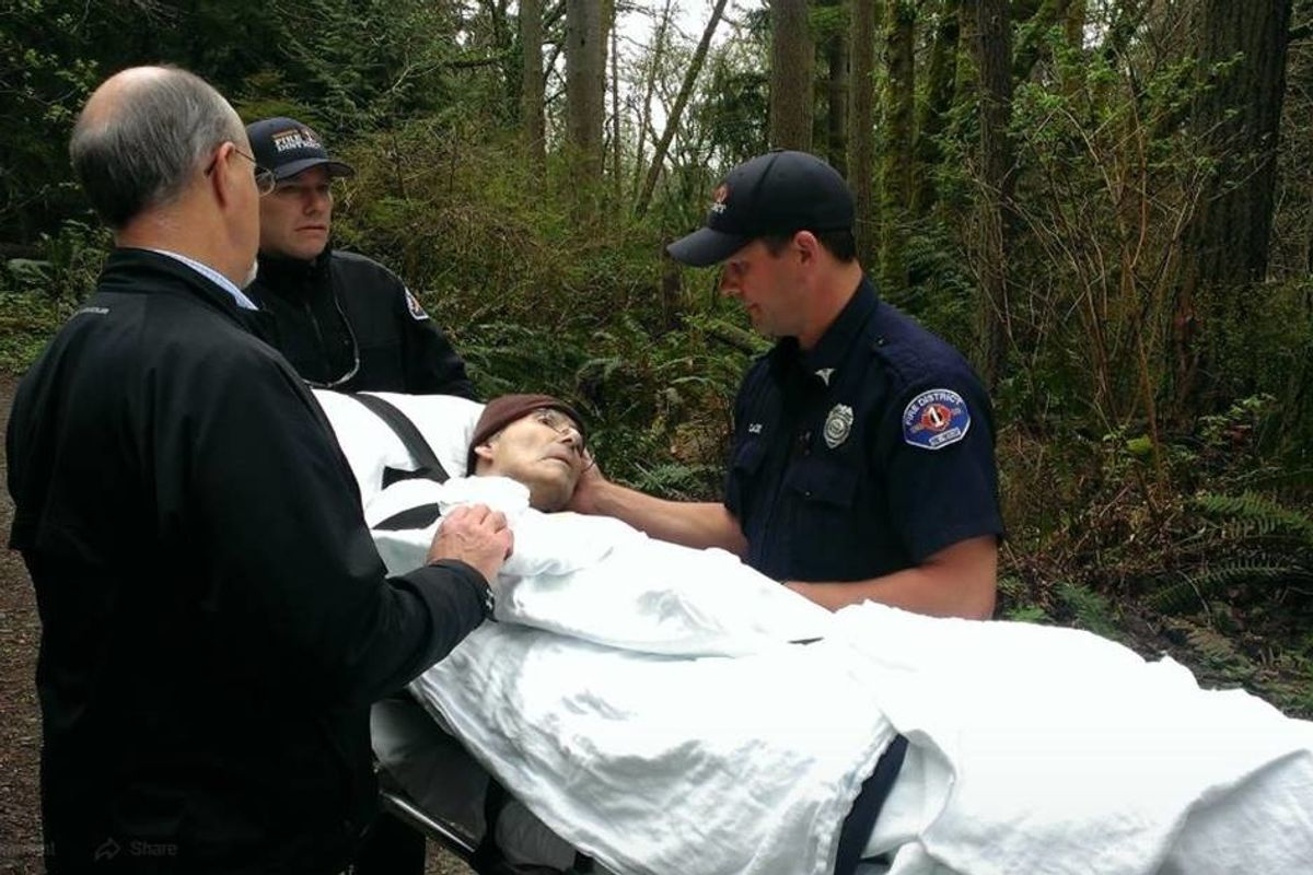 Firefighters grant dying forest ranger's final wish to visit the woods one last time