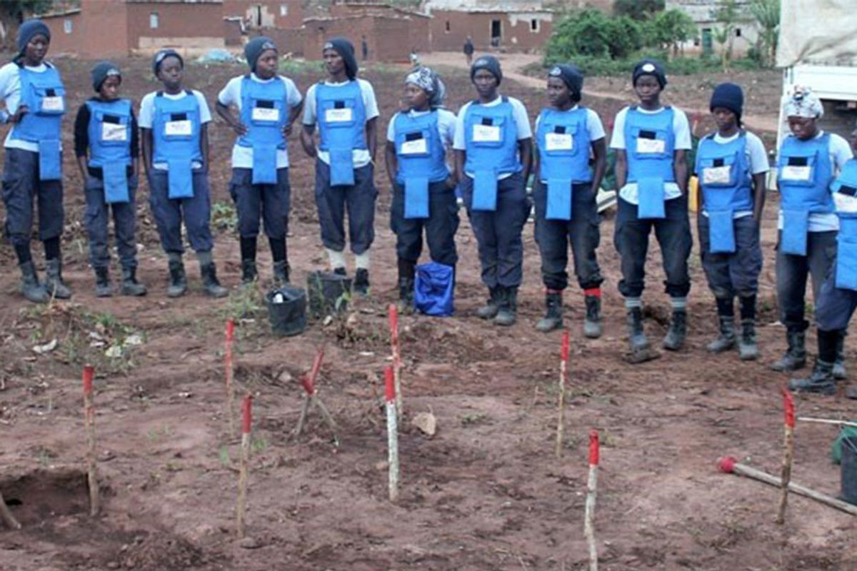A group of women in Angola are bravely working to clear their country of landmines