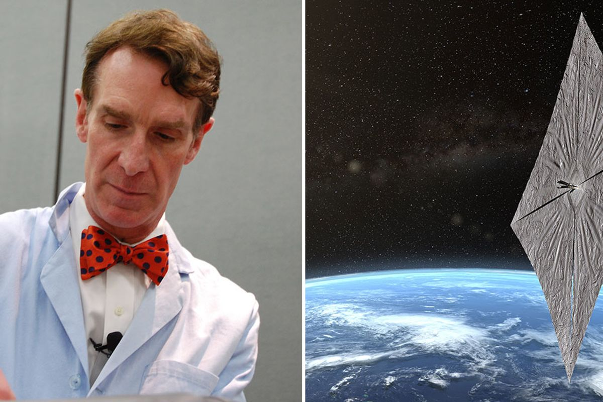 Bill Nye launches experimental satellite that runs on solar power, sails around space