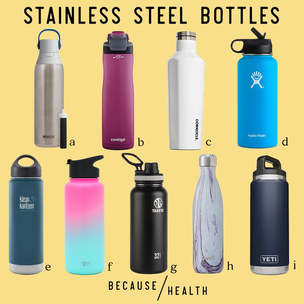 The 9 Best Stainless Steel Water Bottles - Because Health