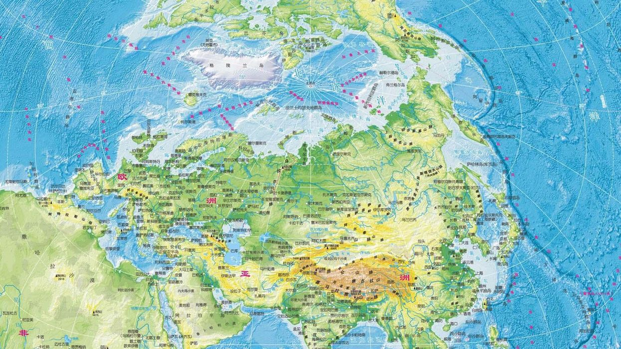 Is this the world map of the future?