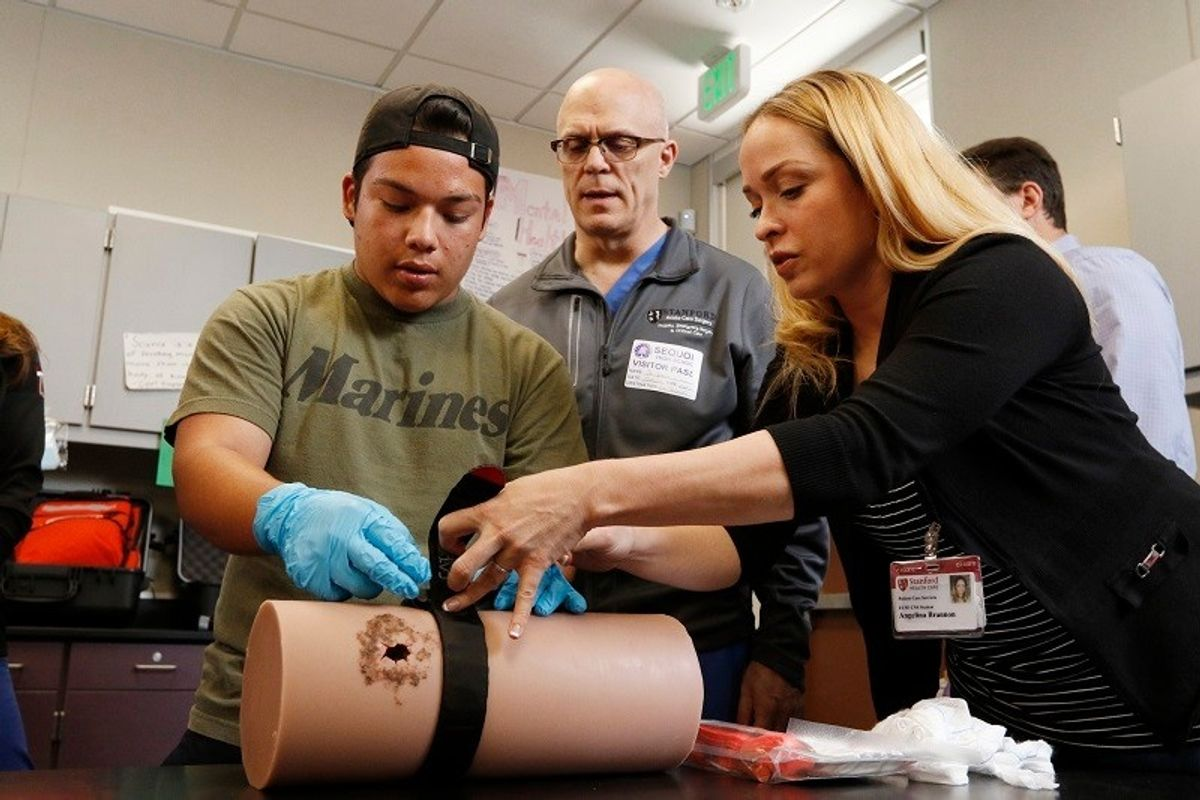 A school custodian's description of 'Stop the Bleed' training shows where gun culture has led us