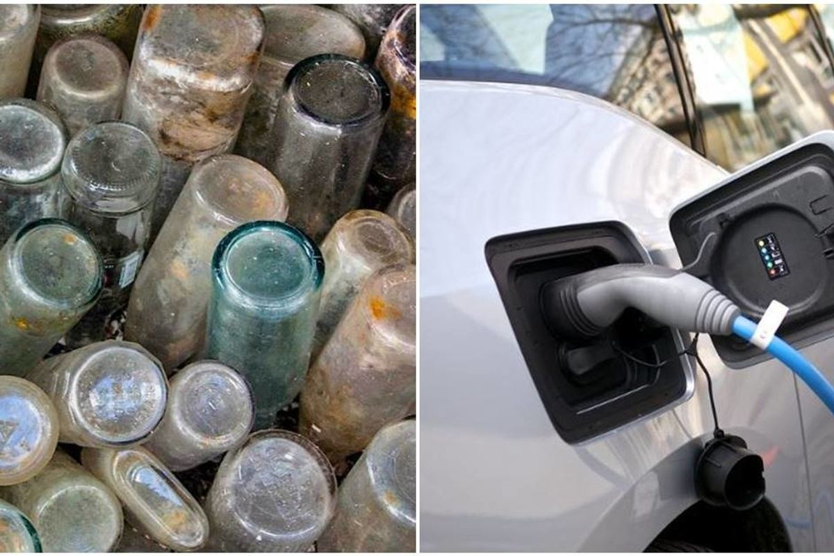 Researchers have found a way to transform glass bottles into electric car batteries